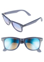 Ray-Ban 50mm Wayfarer Ease Gradient Mirrored Sunglasses