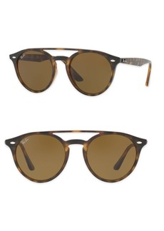 Ray-Ban 51mm Phantos Round Double-Bridge Sunglasses