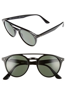Ray-Ban 51mm Polarized Round Sunglasses