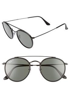 Ray-Ban 51mm Polarized Round Sunglasses