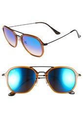 Ray-Ban Highstreet 52mm Aviator Sunglasses