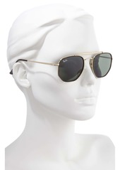 Ray-Ban 52mm Irregular Aviator Sunglasses