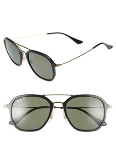 Ray-Ban 52mm Polarized Aviator Sunglasses
