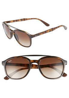 Ray-Ban 53mm Gradient Round Sunglasses