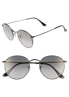 Ray-Ban 53mm Polarized Round Sunglasses