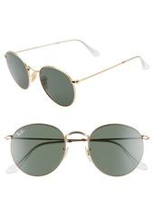 Ray-Ban 53mm Round Sunglasses