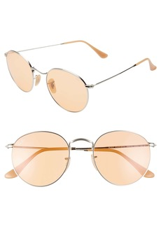 Ray-Ban 53mm Tinted Round Sunglasses