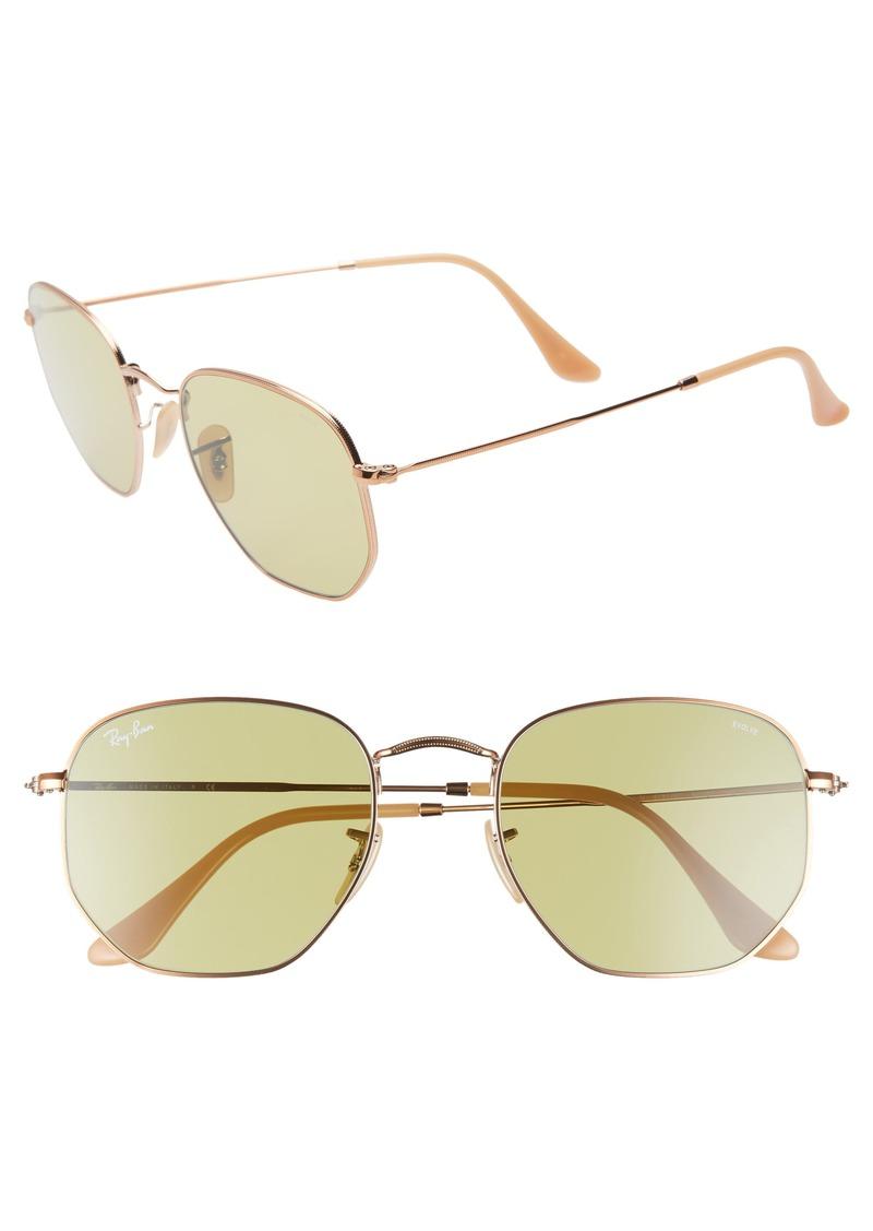 Ray-Ban 54mm Evolve Photochromic Hexagon Sunglasses