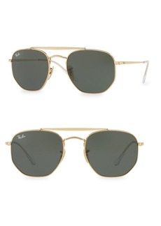 Ray-Ban 54MM Geometric Aviator Sunglasses