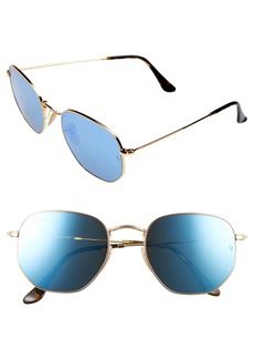 Ray-Ban 54mm Hexagonal Flat Lens Sunglasses