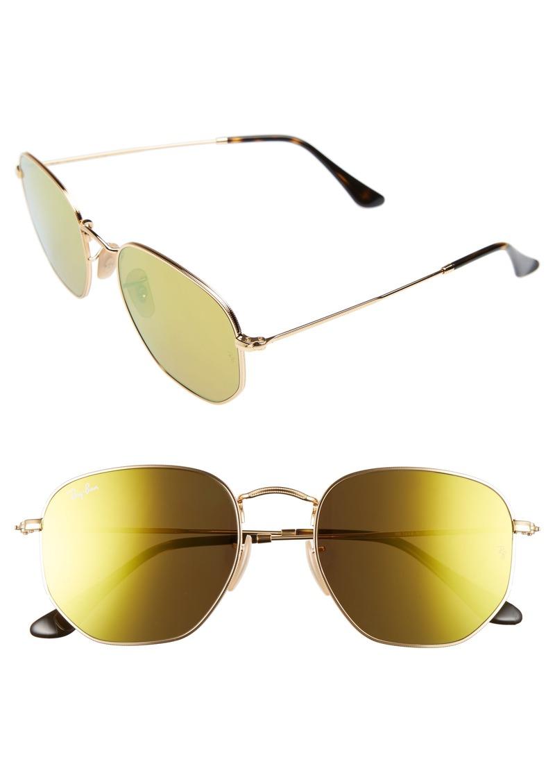 Ray-Ban 54mm Hexagonal Flat Lens Sunglasses