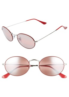 Ray-Ban 54mm Polarized Oval Sunglasses