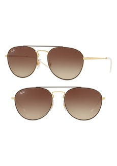 Ray-Ban 55mm Gradient Lens Round Aviator Sunglasses