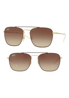 Ray-Ban 55mm Metal Aviator Sunglasses