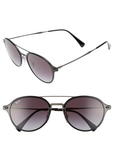 Ray-Ban 55mm Round Gradient Sunglasses