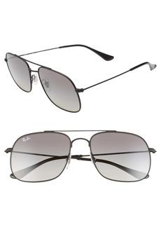 Ray-Ban 56mm Gradient Square Sunglasses
