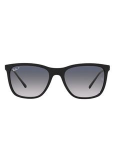 Ray-Ban 56mm Polarized Pillow Sunglasses