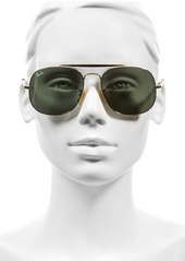 Ray-Ban 57mm Aviator Sunglasses