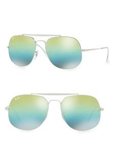 Ray-Ban 57mm General Mirrored Aviator Sunglasses