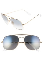 Ray-Ban 57mm Gradient Lens Square Aviator Sunglasses