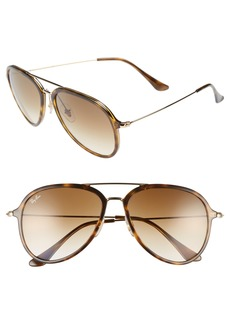 Ray-Ban 57mm Pilot Sunglasses