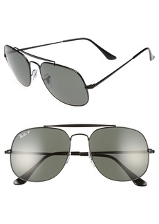 Ray-Ban 57mm Polarized Aviator Sunglasses