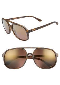 Ray-Ban 57mm Polarized Navigator Sunglasses
