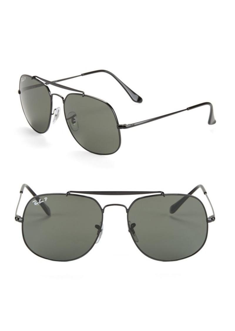 732053e35a7 Ray-Ban Ray-Ban 57MM Polarized Square Aviator Sunglasses