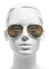 Ray-Ban 58mm Mirrored Polarized Aviator Sunglasses