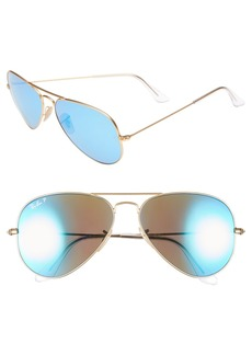 Ray-Ban 58mm Mirrored Polarized Aviator Sunglasses