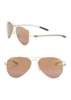 Ray-Ban 58mm Mirrored Aviator Sunglasses