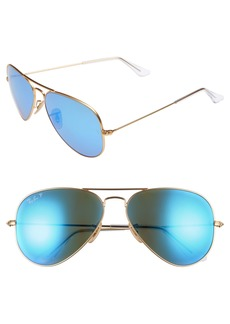 Ray-Ban 58mm Polarized Aviator Sunglasses