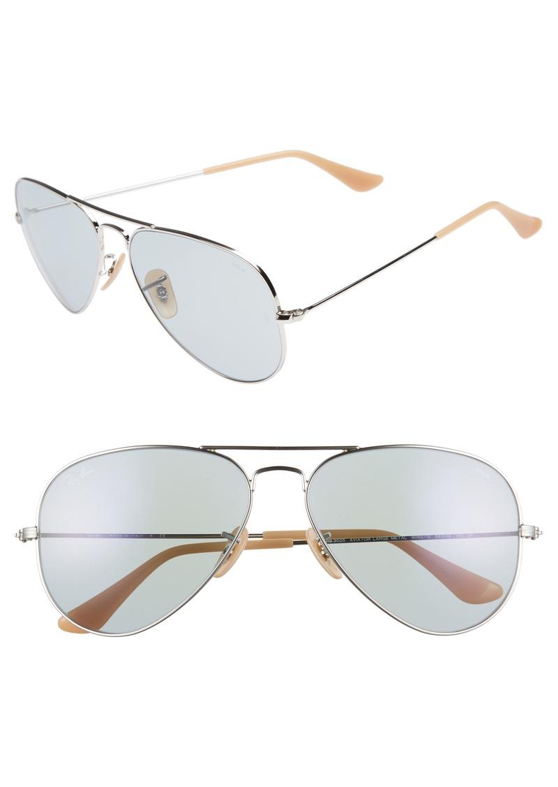 Ray-Ban 58mm Photochromic Aviator Sunglasses