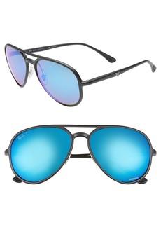 Ray-Ban 58mm Polarized Aviator Sunglasses