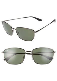 Ray-Ban 58mm Polarized Navigator Sunglasses