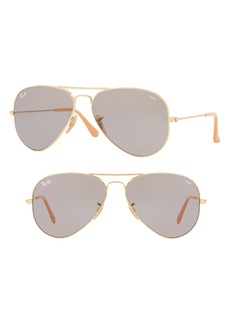 Ray-Ban 58mm Polarized Photochromic Aviator Sunglasses