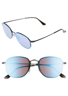 Ray-Ban 58mm Round Sunglasses