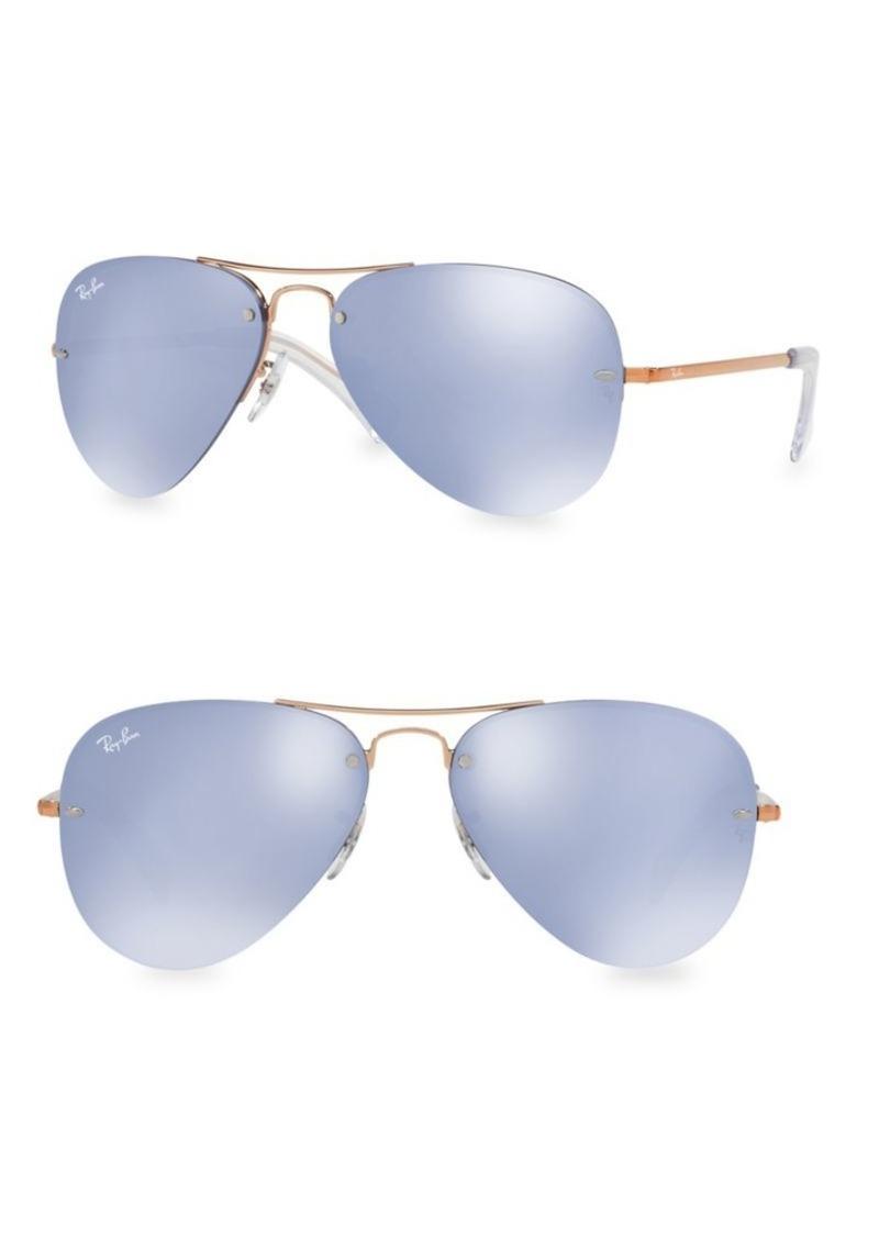 Ray-Ban RB3449 59MM Iconic Semi-Rimless Aviator Sunglasses