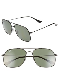 Ray-Ban 59mm Polarized Navigator Sunglasses