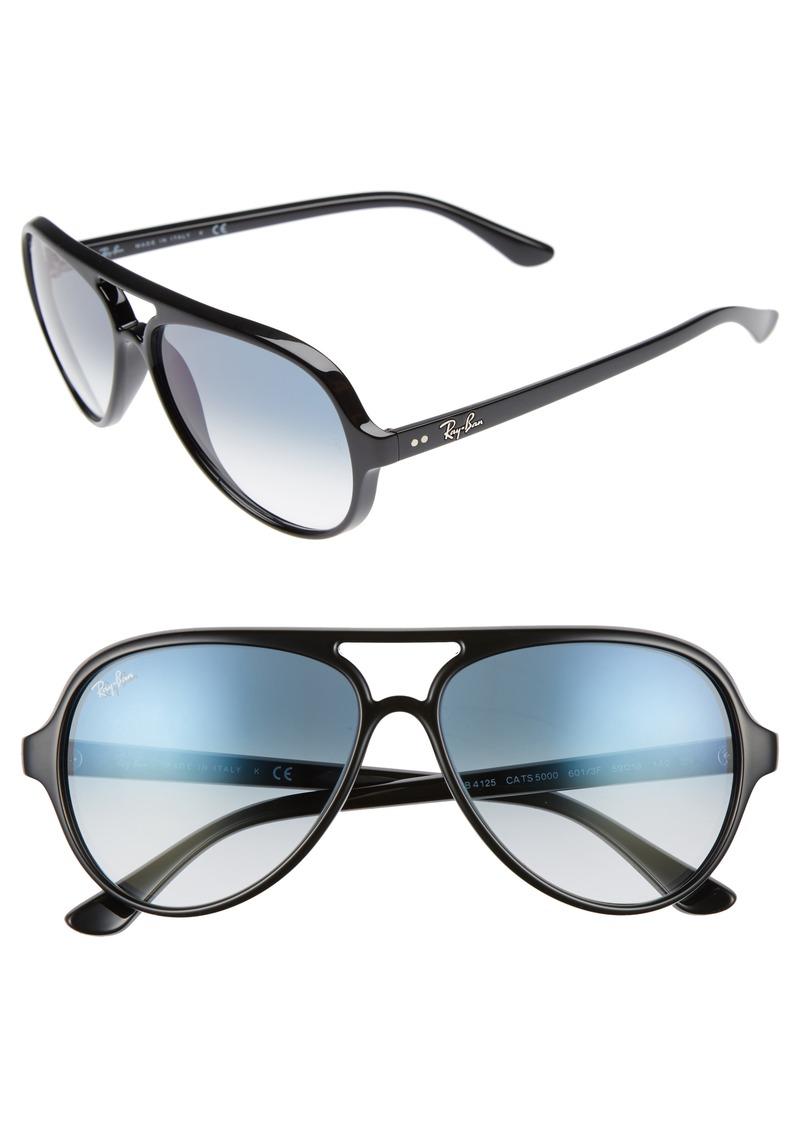 Ray Ban Ray Ban 59mm Resin Aviator Sunglasses Sunglasses