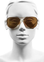 Ray-Ban 59mm Semi Rimless Aviator Sunglasses