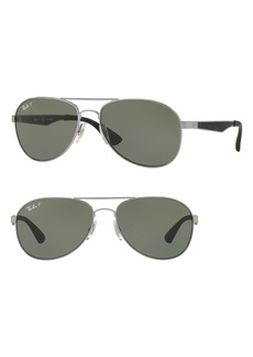Ray-Ban 61mm Polarized Aviator Sunglasses