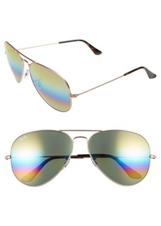 Ray-Ban 62mm Rainbow Aviator Sunglasses