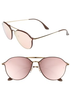 Ray-Ban 62mm Mirrored Lens Aviator Sunglasses