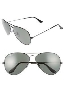 Ray-Ban 62mm Polarized Aviator Sunglasses