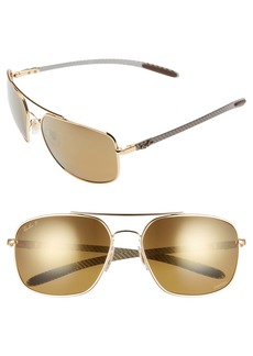 Ray-Ban 62mm Polarized Square Sunglasses