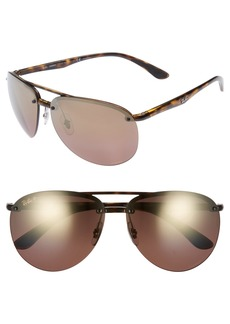 Ray-Ban 65mm Gradient Aviator Sunglasses