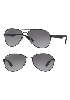 Ray-Ban Active Lifestyle 61mm Polarized Pilot Sunglasses