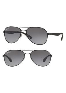 Ray-Ban Active Lifestyle 61mm Polarized Pilot Sunglasses