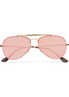 Ray-Ban Aviator gold-tone mirrored sunglasses